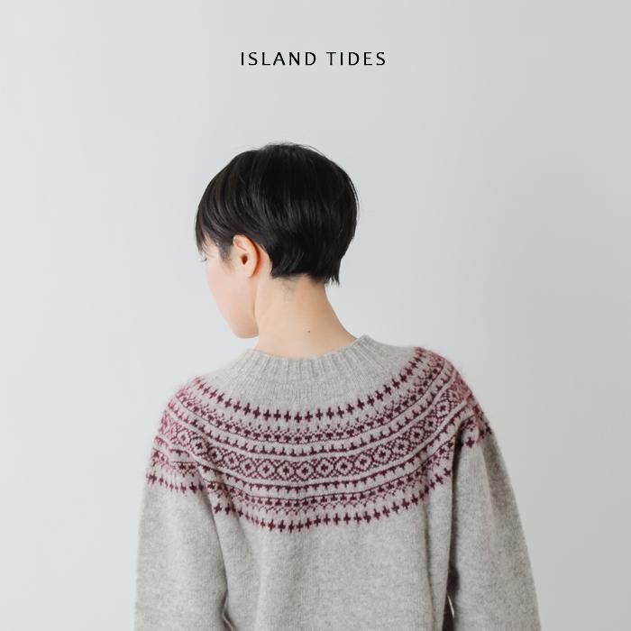 ISLAND TIDES(アイランドタイド)aranciato別注 ジャガードニットプルオーバー ey-18239