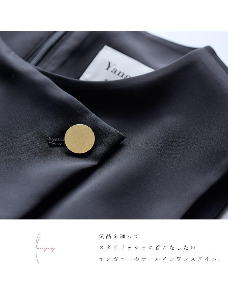 yangany(ヤンガニー)ゴールドボタンオールインワン f-5827