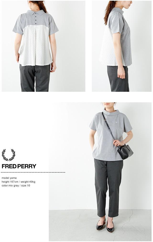 "FRED PERRY(フレッド ペリー)50/2鹿の子ストライププリントTシャツ ""STRIPE BLOCK PIQUE SHIRT"" f5281"