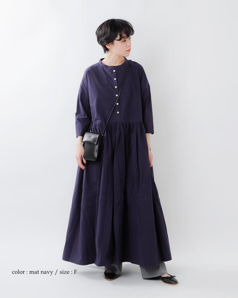 Gauze#(ガーゼ)aranciato別注 コットンスウィッチングギャザーワンピースドレス g443-ar