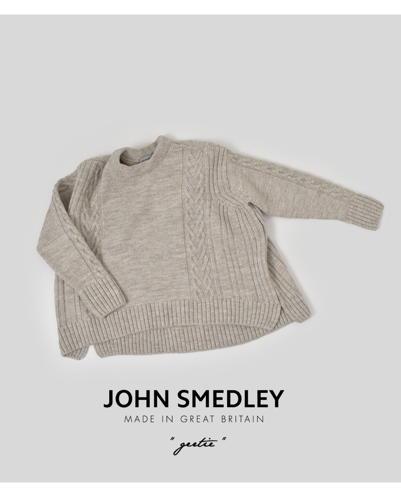 JOHN SMEDLEY(ジョンスメドレー)100%ブリティッシュウールニットプルオーバー gertie
