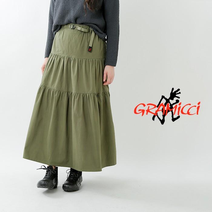 GRAMICCI(グラミチ)ストレッチウェザークロスティアードスカート glsk-19s032