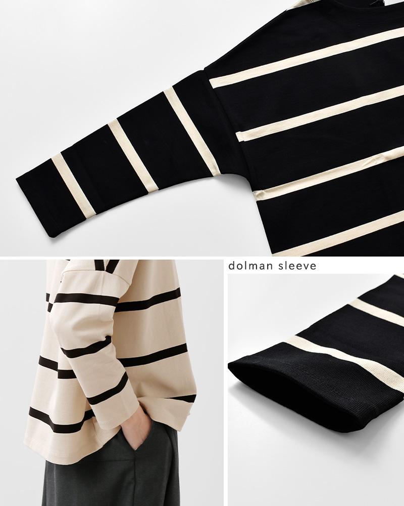 ma couleur(マ クルール)aranciato別注 デラボーダーコットンカットソープルオーバー j-4030