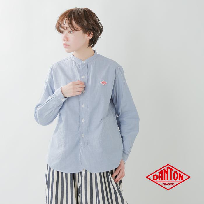 DANTON(ダントン)オックスフォードバンドカラーシャツ jd-3606yox