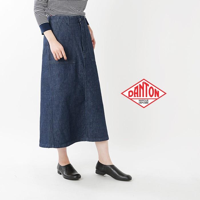 DANTON(ダントン)コットンライトキャンバス×デニムロングスカート jd-5086