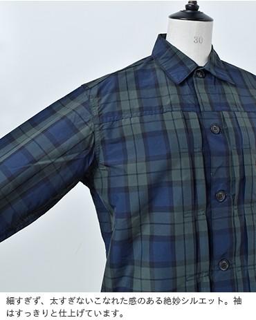 ナイロンタフタチェックシャツジャケット