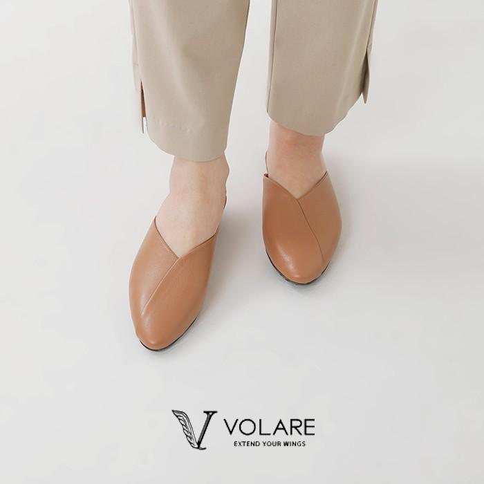 """volare(ヴォラーレ)ポインテッドトゥレザースリッパサンダル""""LEATHER SLIPPER"""""""