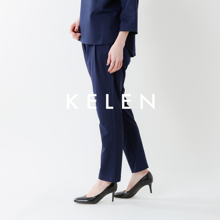 "kelen(ケレン)ストレッチテーパードトラウザーパンツ""HerveT/R""lkl18hpt3"