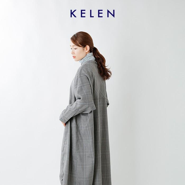 "kelen(ケレン)グレンチェックドルマンスリーブシャツコート""Agne"" lkl20fop7"
