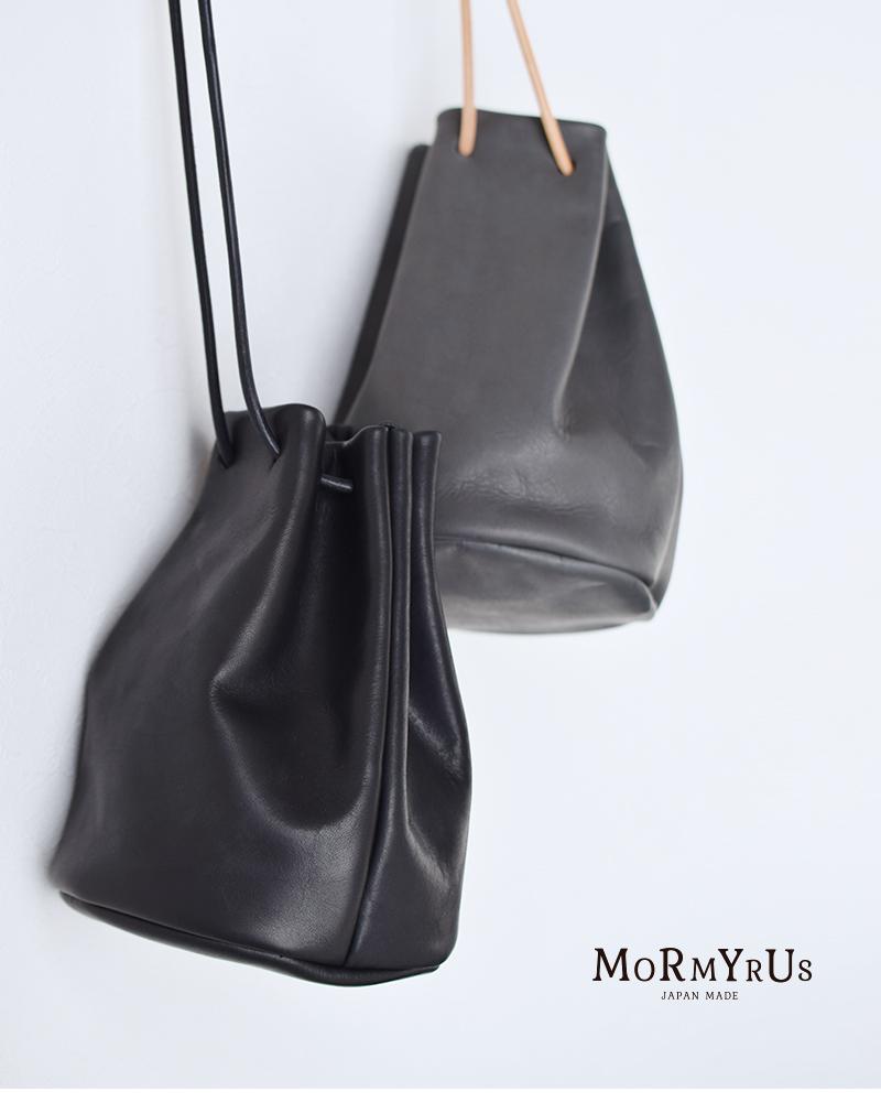 mormyrus(モルミルス)レザー巾着ハンドバック m077