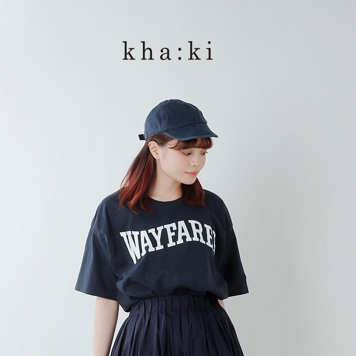 """kha:ki(カーキ)コットンワイドスリットTシャツ""""WAYFARER"""" mil-19hcs158c"""