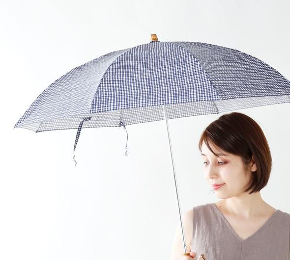 Bon Bon Store(ボンボンストア)<br>晴雨兼用 防水&UV撥水加工 ドローイングチェック折りたたみ傘 bon-20010