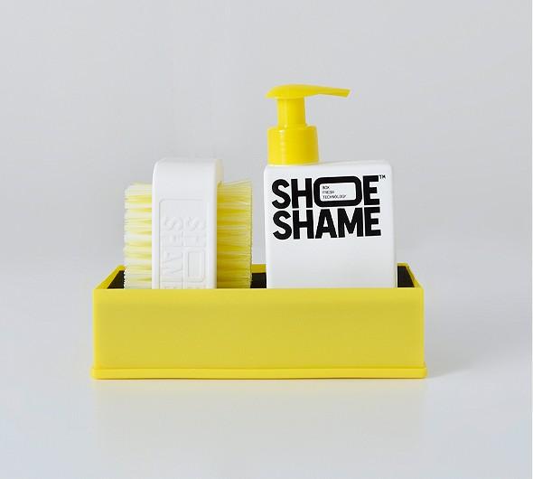 SHOE SHAME(シューシェイム)<br>クリーニングジェル&ダブルサイドブラシ オールインワンキット lose-the-dirt-kit