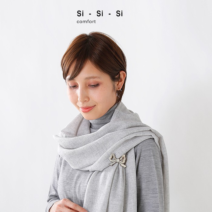 "Si-Si-Si(スースースー)バッファローホーンリボンブローチ""RIBON"" n-156"