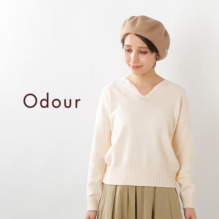 Odour(オウダー)コットンキーネックプルオーバー od-kn8412