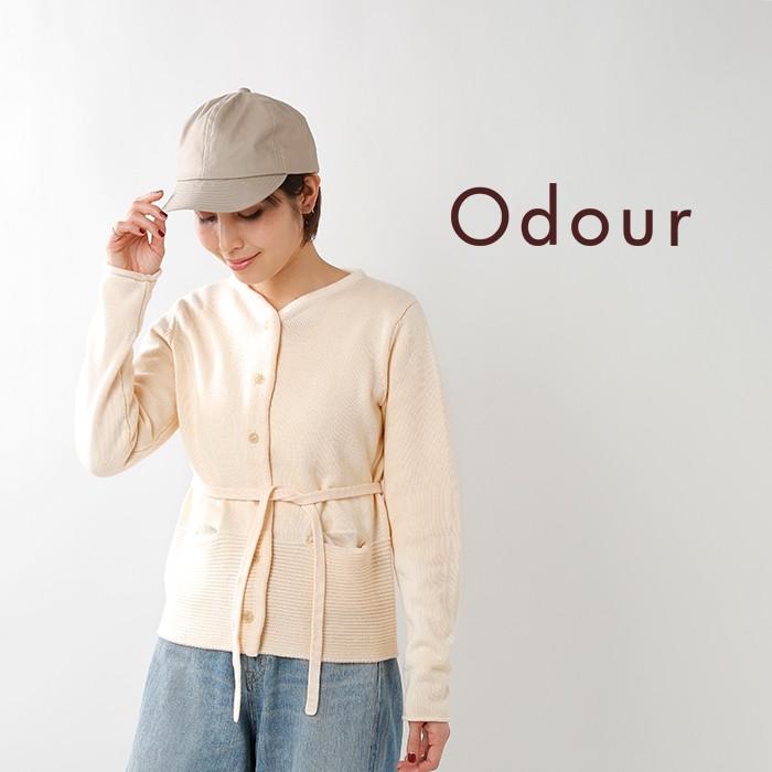 Odour(オウダー)コットンクルーネックカーディガン od-kn8414