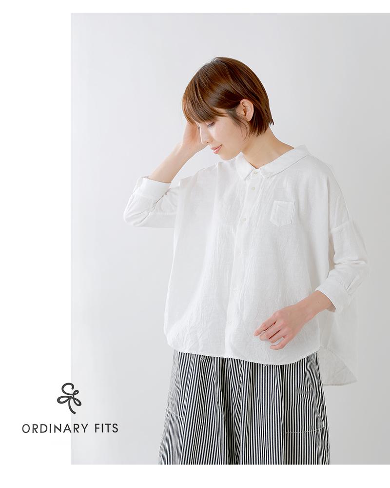 ordinaryfits(オーディナリーフィッツ)コットン100%ドロップショルダーバーバーシャツ of-s049-50
