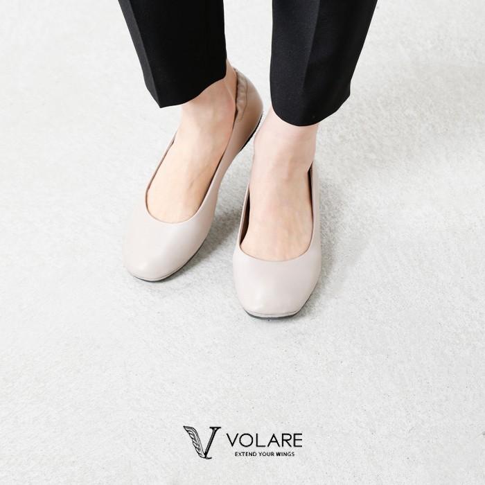 volare(ヴォラーレ)レザーフラットパンプス one-tone