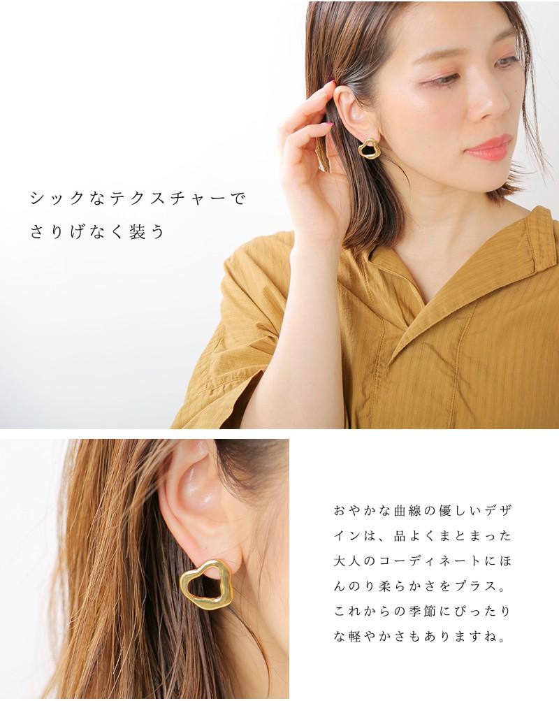 "MERAKI(メラキ)真鍮ピアス""Organic Brass Earrings S"""