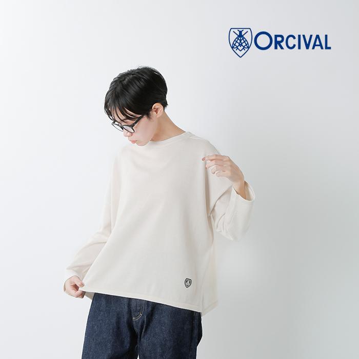 ORCIVAL(オーチバル・オーシバル)メリノウールニットプルオーバー rc-4157solid
