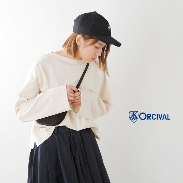 ORCIVAL(オーチバル・オーシバル)コットンボートネックワイドプルオーバーrc-9186