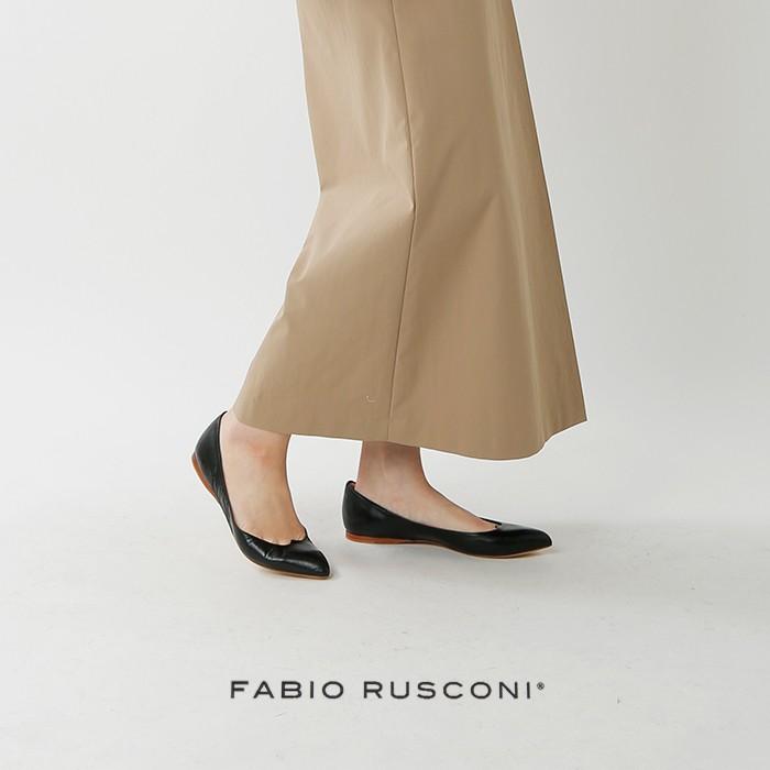 FABIO RUSCONI(ファビオルスコーニ)スカラップポインテッドトゥパンプス