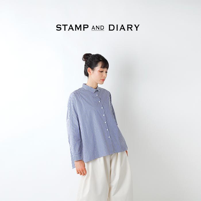 STAMP AND DIARY(スタンプアンドダイアリー)スーピマコットン60/1ストライプビッグシャツ sd009ss410