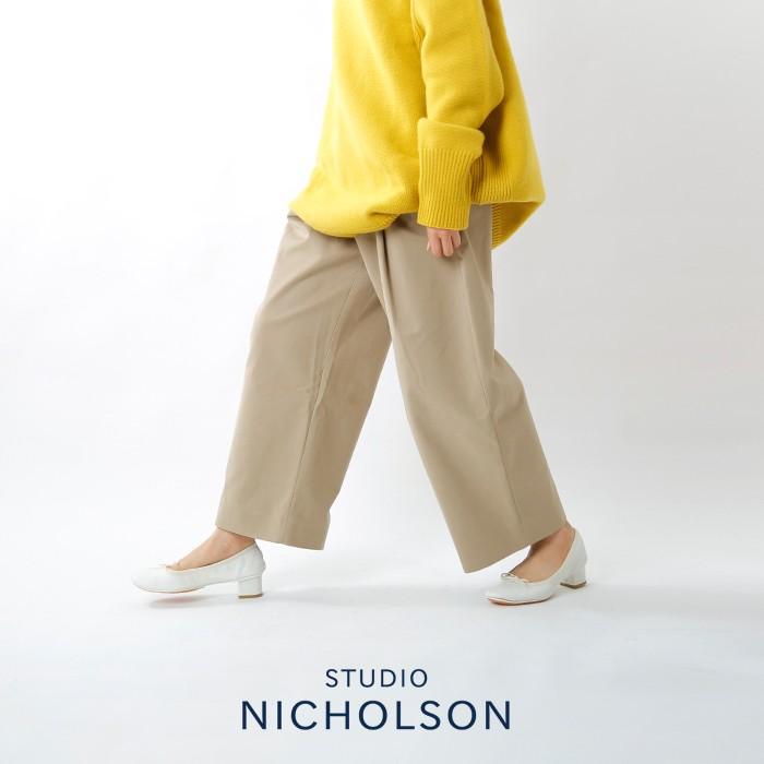 """STUDIO NICHOLSON(スタジオ ニコルソン)ピーチドコットンツイルボリュームプリーツパンツ""""DORDONI"""" snw-145"""