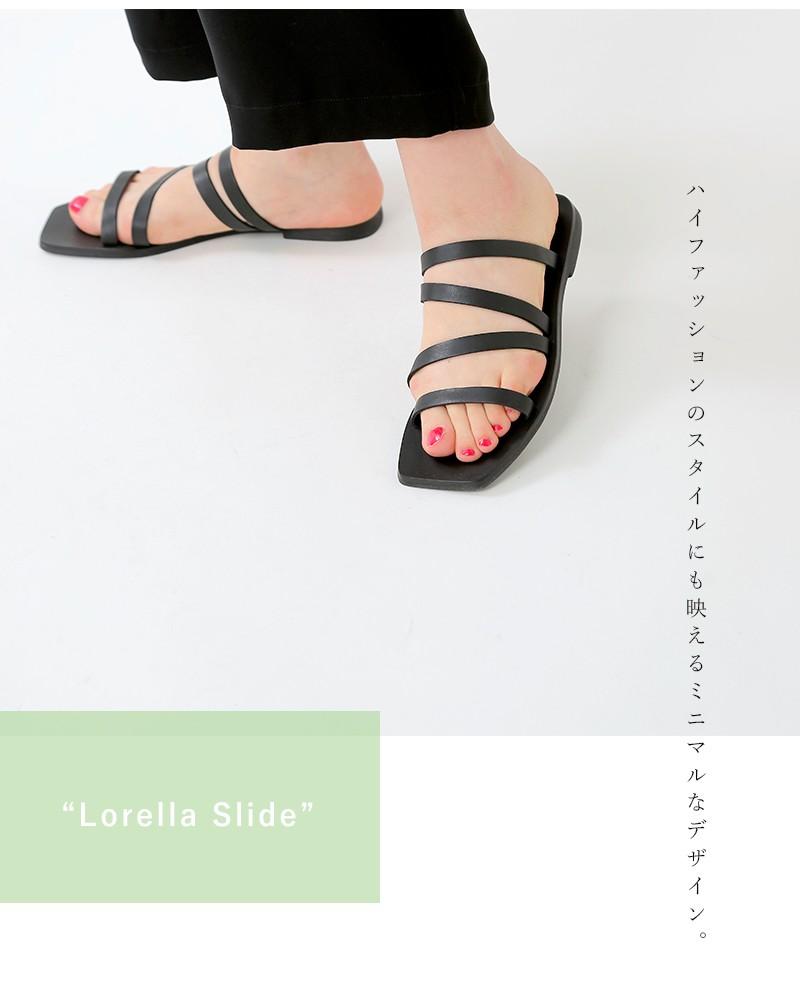 "SOL SANA(ソルサナ)レザーストラップフラットサンダル""Lorella Slide"" ss202s421n"