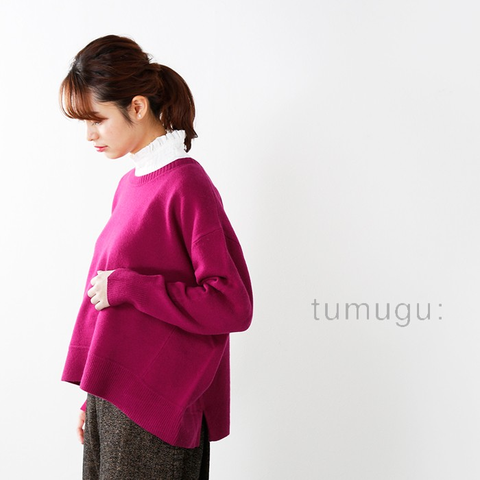tumugu(ツムグ)ソフトウールニットプルオーバーtk17315