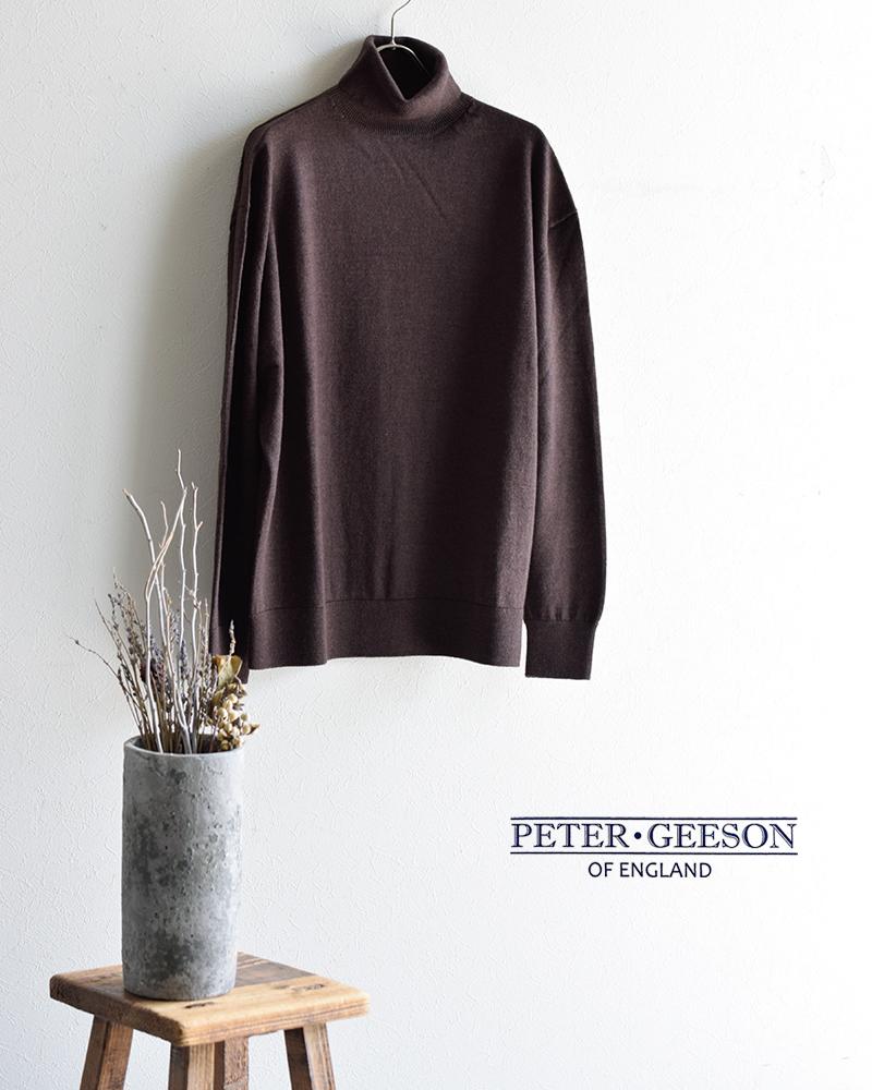 PETER GEESON(ピーターギーソン)クルーネックニットプルオーバー turtle-neck
