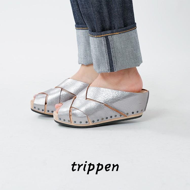trippen(トリッペン)カウレザーツイスト ウェッジソールサンダル twist-waw