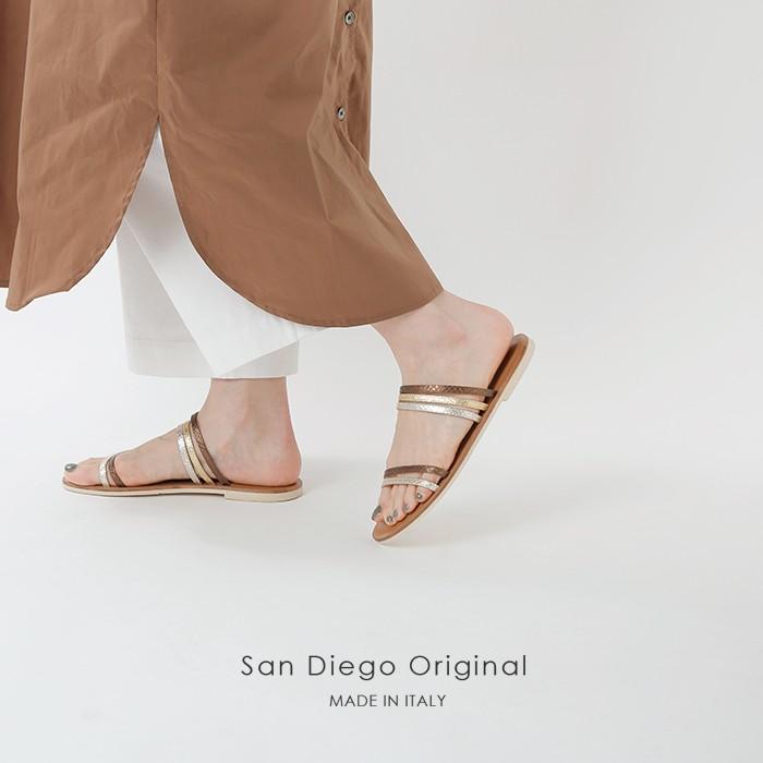 San Diego Original(サンディエゴオリジナル)フラットレザーサンダル w2012