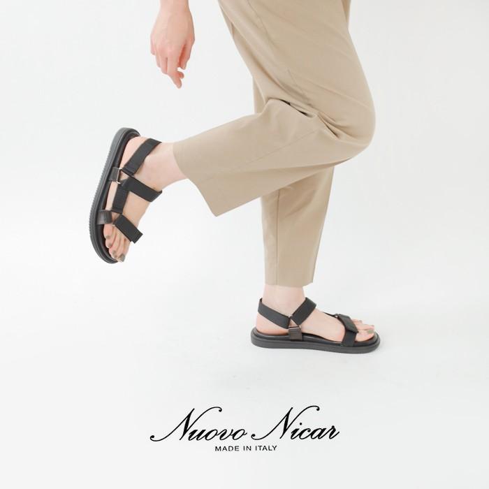 NUOVO NICAR(ヌオヴォニカール)バケッタレザーフラットサンダル w2056