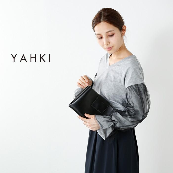YAHKI(ヤーキ)レザースクエアショルダーバッグyh-132