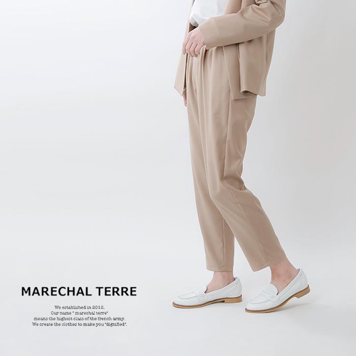 MARECHAL TERRE(マルシャルテル)マイクロT/Rチンツ加工ウエストギャザーパンツ zmt206pt216
