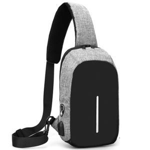 バッグで携帯充電 USBポート搭載 ケーブル付 ボディバッグ メンズ レディース ワンショルダー ボディーバッグ おしゃれ 軽量 斜めがけ ウエストポーチ|arcade|30