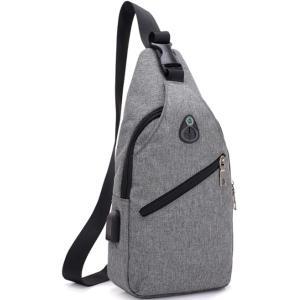バッグで携帯充電 USBポート搭載 ケーブル付 ボディバッグ メンズ バッグ ワンショルダー ボディーバッグ おしゃれ 軽量 斜めがけ セール|ARCADE