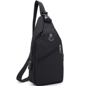 バッグで携帯充電 USBポート搭載 ケーブル付 ボディバッグ メンズ レディース ワンショルダー ボディーバッグ おしゃれ 軽量 斜めがけ ウエストポーチ|arcade|14