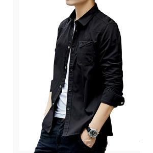 シャツ メンズ 長袖 シャツ ジャケット オックスフォードシャツ 細身 タイト シャツ トップス メンズ オーバーシャツ M L XL 2XL 3XL 4XL|ARCADE