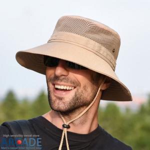 帽子 メンズ レディース ハット 大きい サファリハット アウトドアハット UVカット 紫外線対策 日よけ 折りたたみ 夏 新作 ARCADE