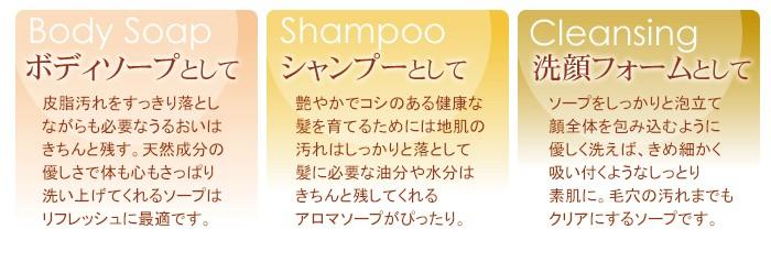 ボディソープとして シャンプーとして 洗顔フォームとして