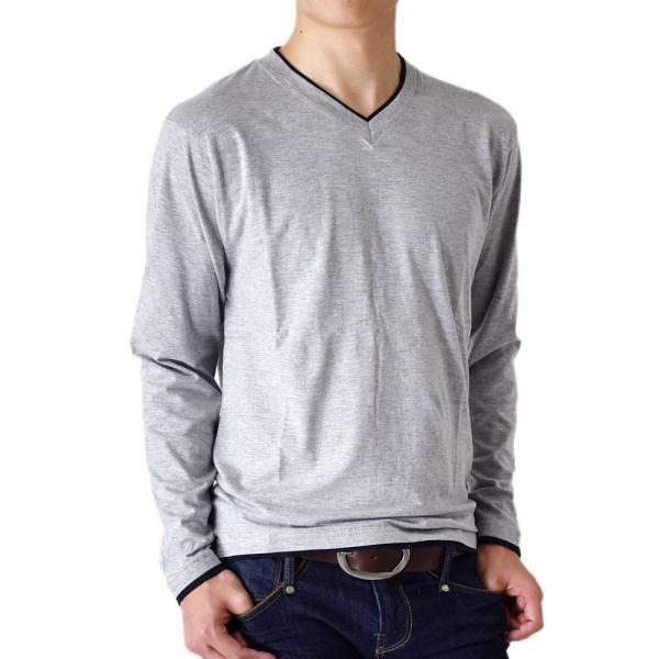 長袖Tシャツ ロングTシャツ メンズ フェイクレイヤード無地ロンT セール 送料無料 通販M《M1.5》 aronacasual 26