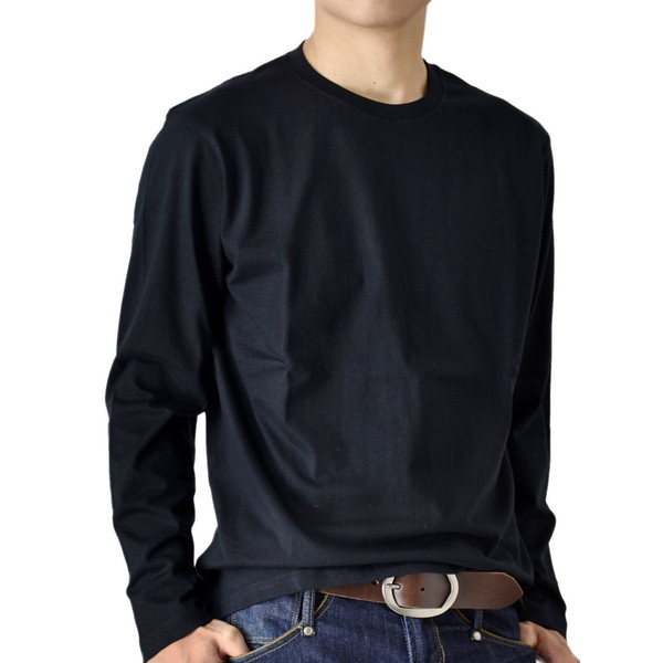 ストレッチTシャツ 無地 長袖Tシャツ ロングTシャツ クルー Vネック メンズ 送料無料 通販M《M1.5》|aronacasual|22