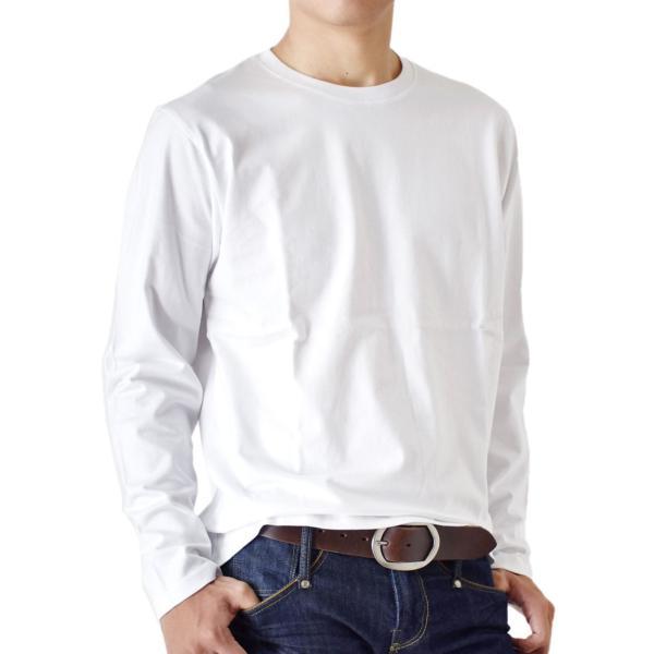 ストレッチTシャツ 無地 長袖Tシャツ ロングTシャツ クルー Vネック メンズ 送料無料 通販M《M1.5》|aronacasual|21