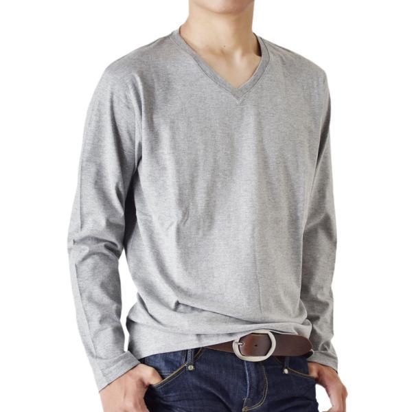 ストレッチTシャツ 無地 長袖Tシャツ ロングTシャツ クルー Vネック メンズ 送料無料 通販M《M1.5》|aronacasual|29