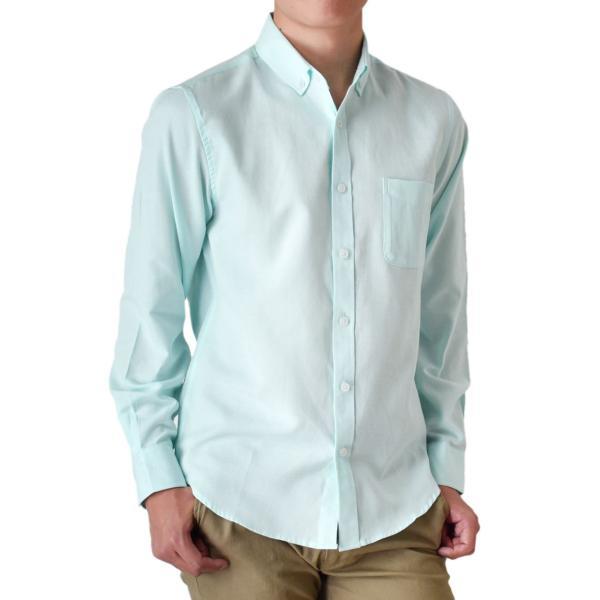 シャツ メンズ オックスフォードシャツ ボタンダウンシャツ 長袖 得トクセール セール 送料無料 通販M《M1.5》|aronacasual|25