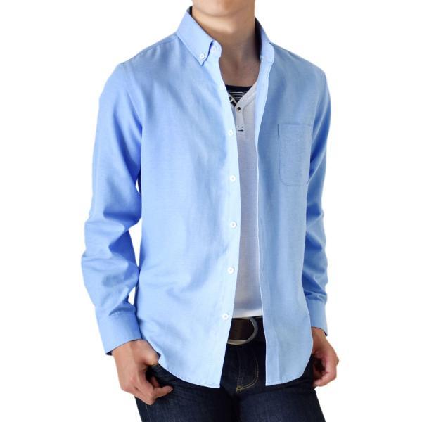 シャツ メンズ オックスフォードシャツ ボタンダウンシャツ 長袖 得トクセール セール 送料無料 通販M《M1.5》|aronacasual|26