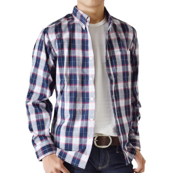 シャツ メンズ チェック柄 長袖 シャツ セール 送料無料 通販M《M1.5》|aronacasual|32