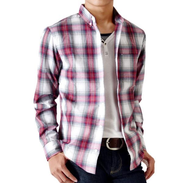 シャツ メンズ チェック柄 長袖 シャツ セール 送料無料 通販M《M1.5》|aronacasual|34
